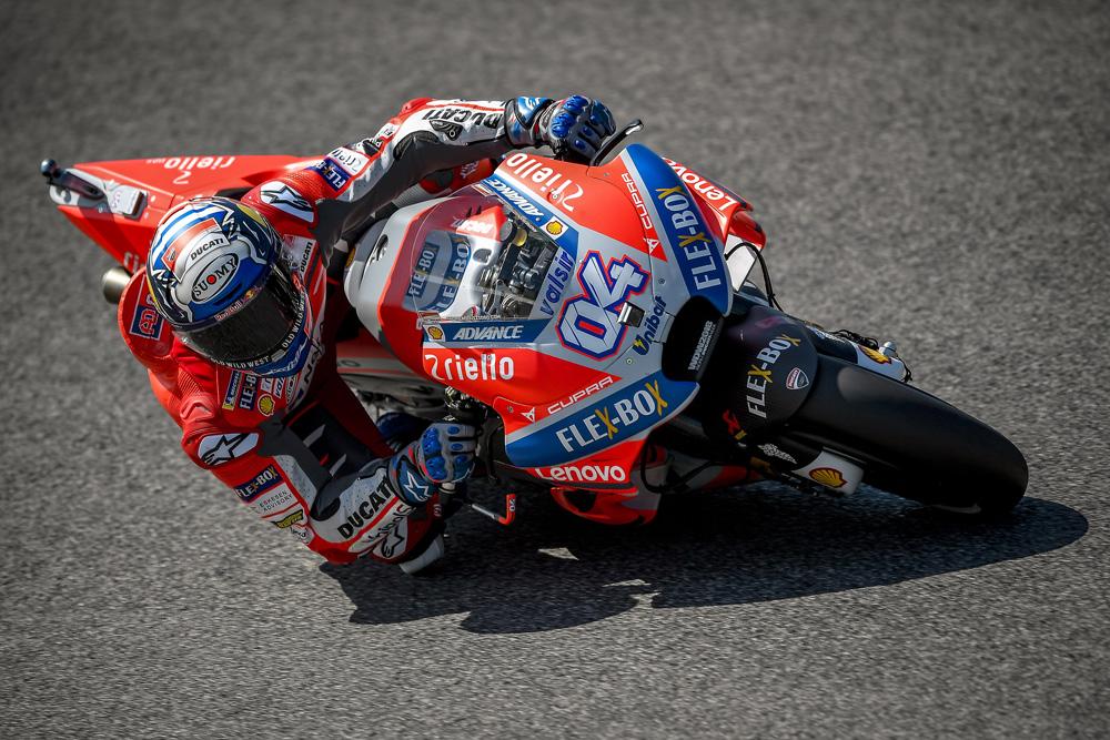 Andrea Dovizioso fue segundo en el GP de Italia