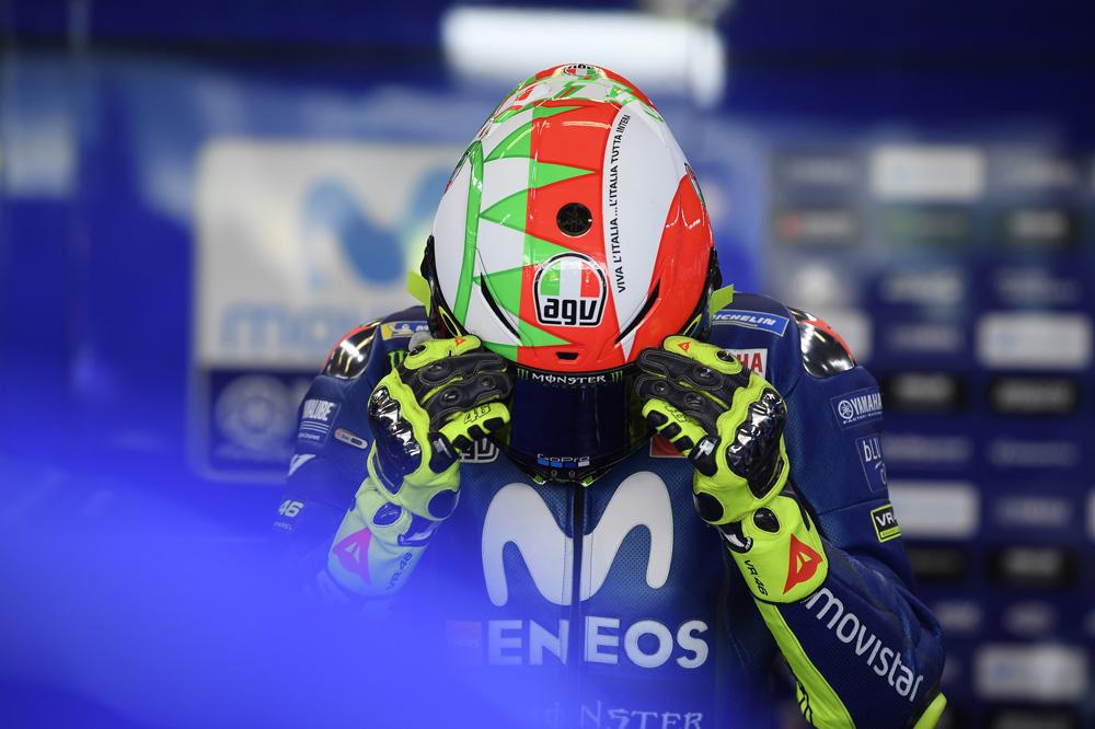 Nuevo casco de Valentino Rossi para el Gran Premio de Italia