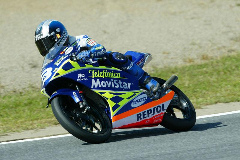 Dani Pedrosa obtuvo su primer título mundial en 2003 con Honda en 125