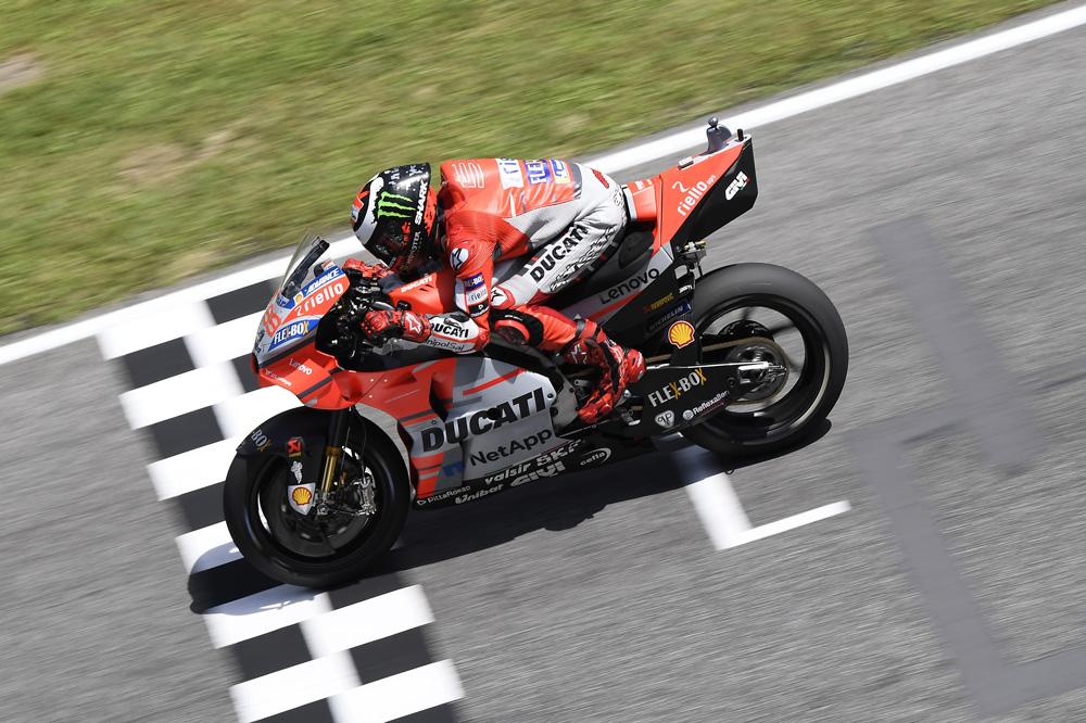 Llegada a meta de Jorge Lorenzo en el Gran Premio de Italia