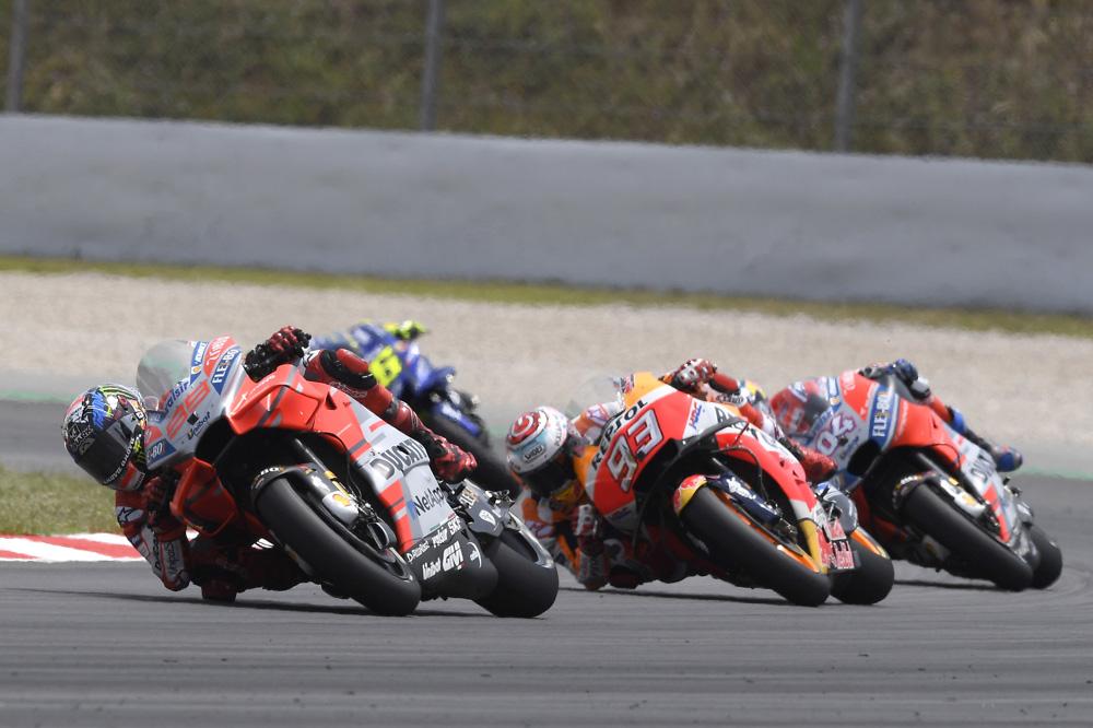 Lorezo, Marquez y Dovizioso GP de Cataluña