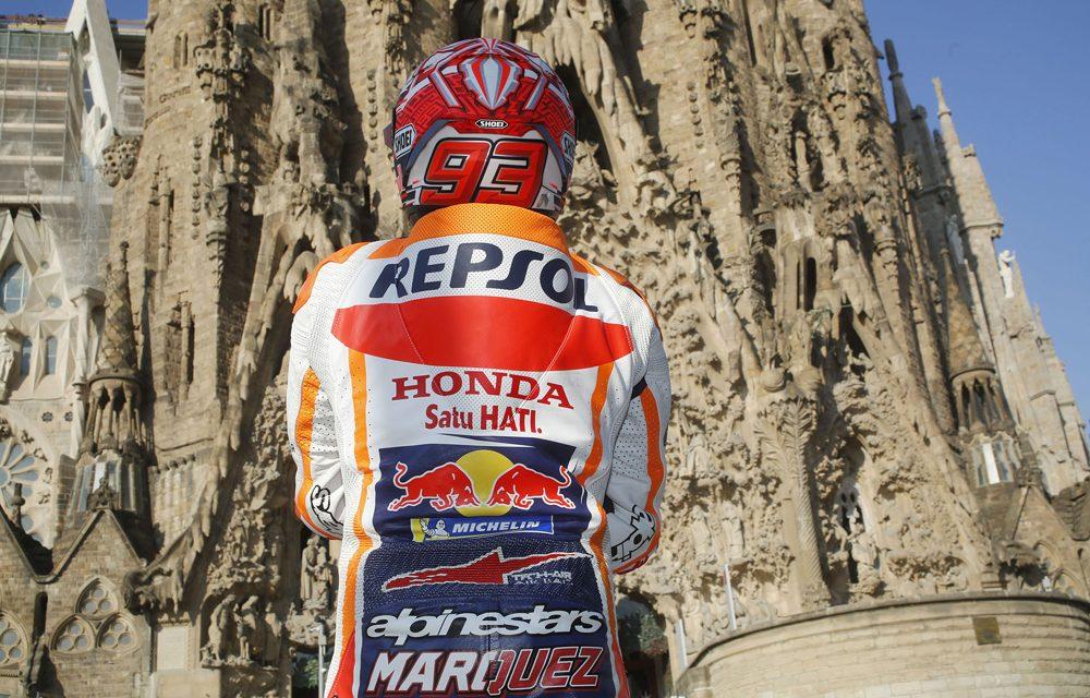Marc Márquez y Dani Pedrosa pasean por Barcelona antes del GP de Cataluña