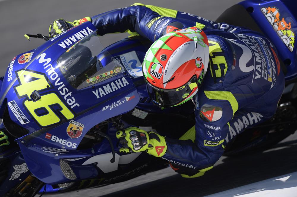 Valentino Rossi fue tercero en el Gran Premio de Italia