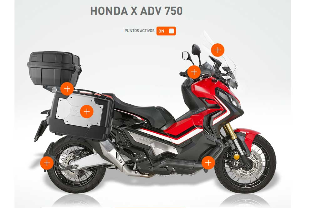 Configurador accesorios Kappa para el Honda X ADV