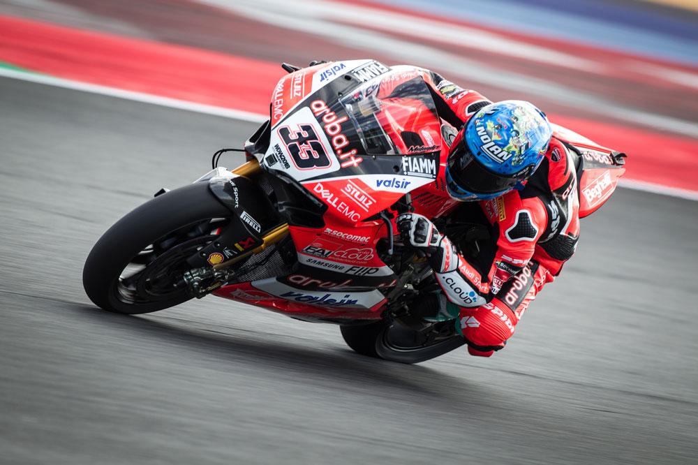 Marco Melandri volvió al podio en SBK en Misano