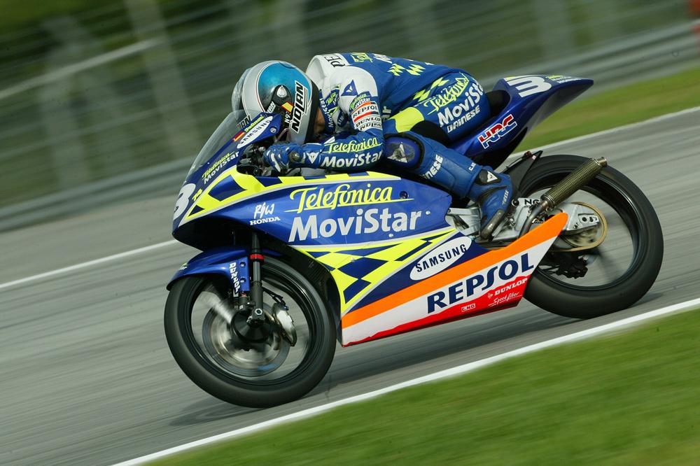 Dani Pedrosa en el Gran Premio de Malasia 2003