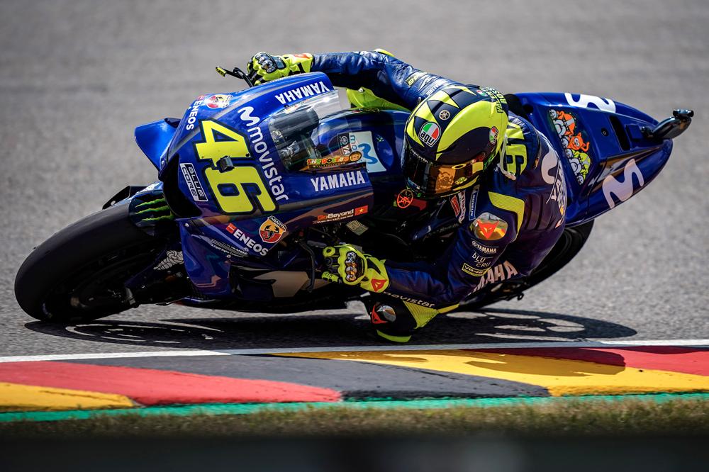 Valentino Rossi logró una cómoda segunda posición en el GP de Alemania