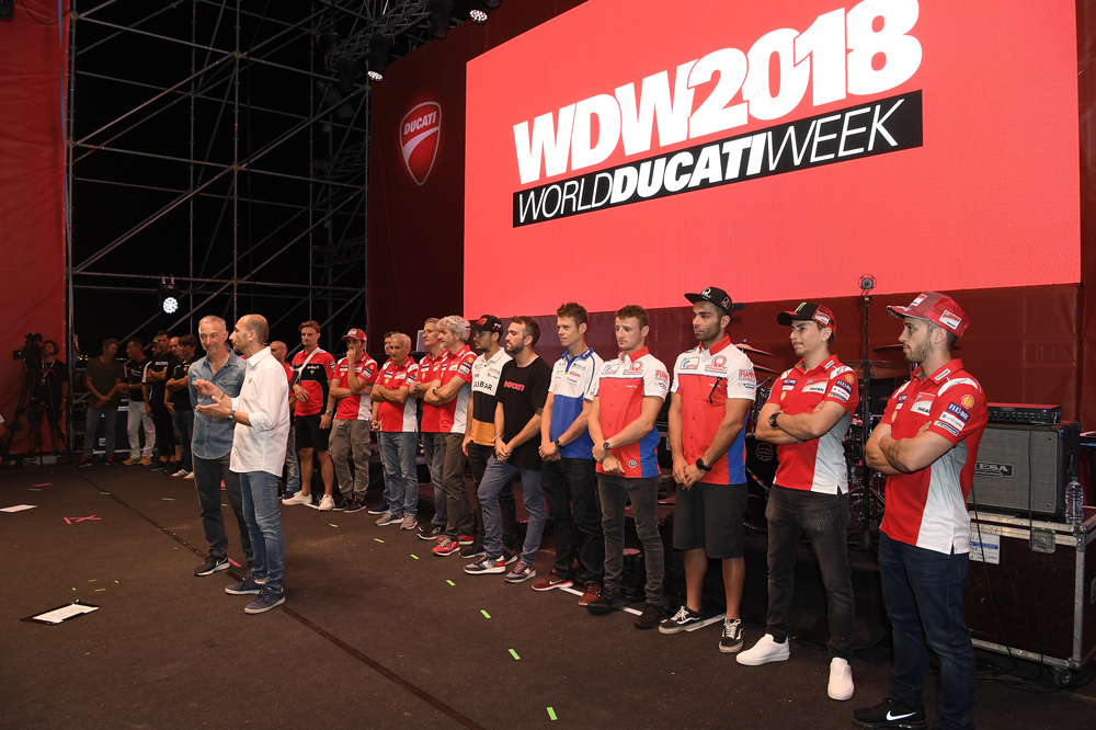 Pilotos Ducati durante el World Ducati Week