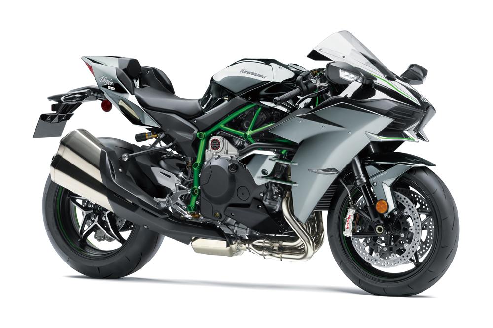 La Kawasaki H2 2019 tiene algunas de las mejoras de la versión SX
