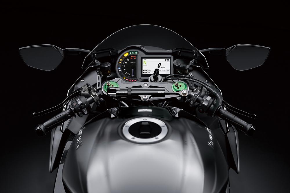 Cuadro de instrumentos de la Kawasaki Ninja H2 2019