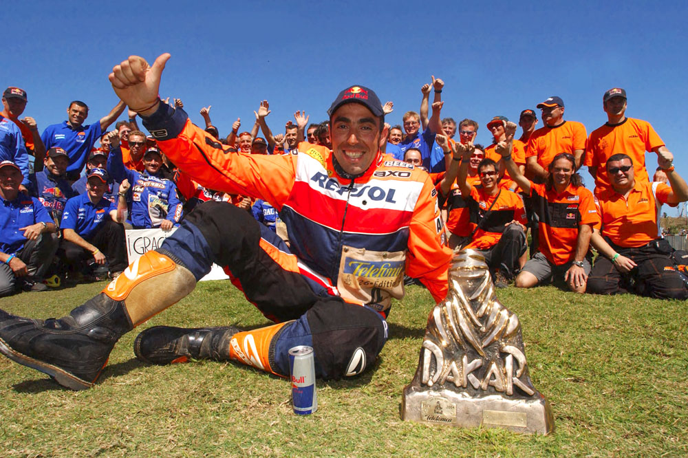 Nani Roma tras conquistar el Rally Dakar