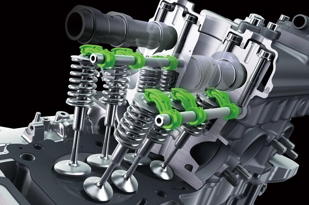 Sistema de balancines de la Kawasaki ZX 10 R