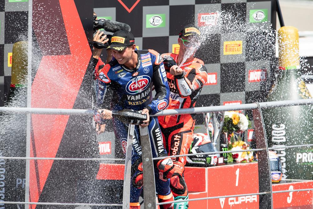 Michael Van der Mark, doble podio en SBK en Portugal