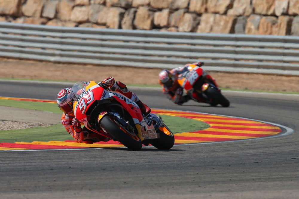 Marc Márquez y Dani Pedrosa MotoGP Aragón 2017