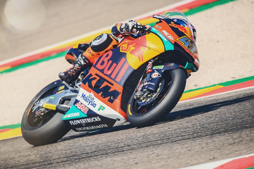 Victoria de Brad Binder en el GP de Aragón en Moto2