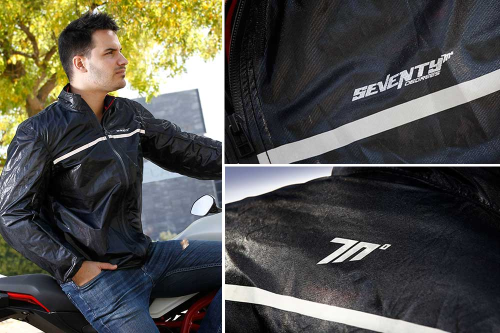 Impermeable moto para hombre SD-A3 de Seventy Degrees