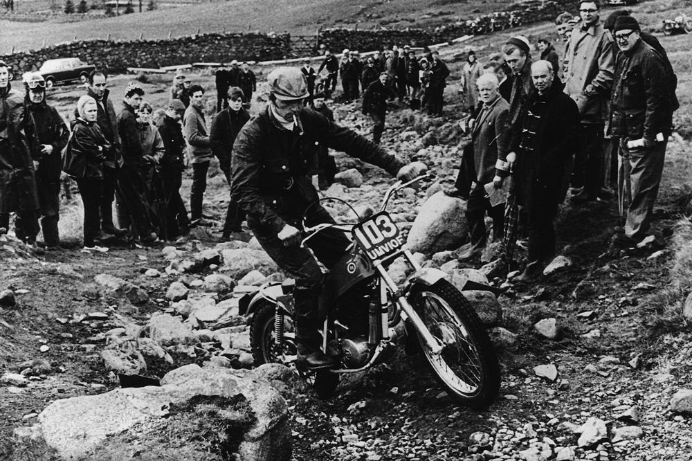 Don Smith participó con una Montesa Cota 247 en 1968 en los Seis Días de Escocia de Trial