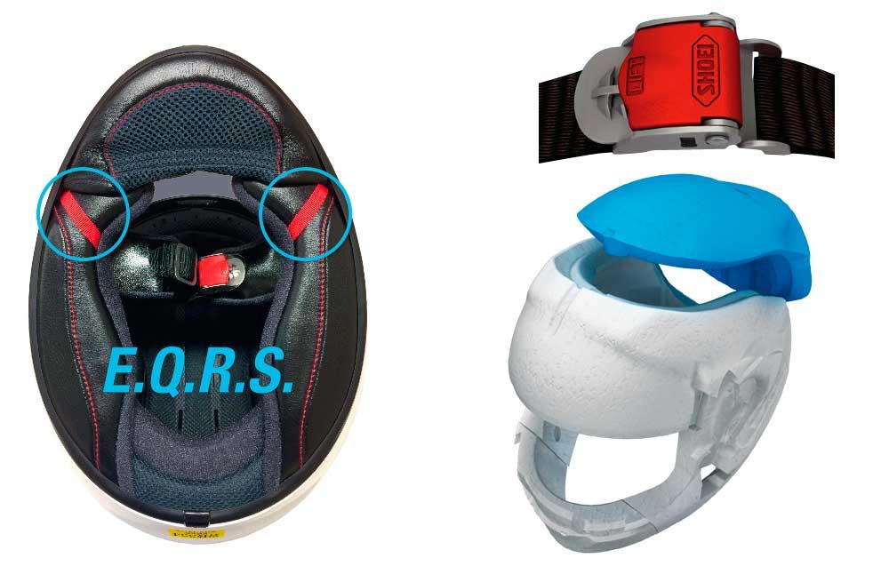 Sistemas seguridad casco GT Air II de Shoei