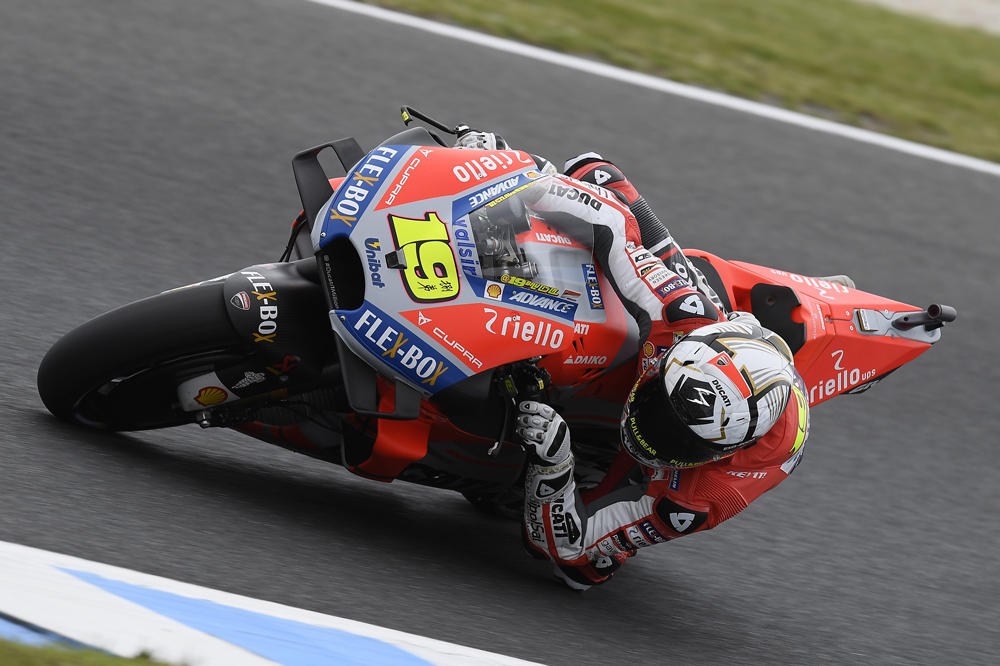 Alvaro Bautista corrió en MotoGP con la moto de Jorge Lorenzo