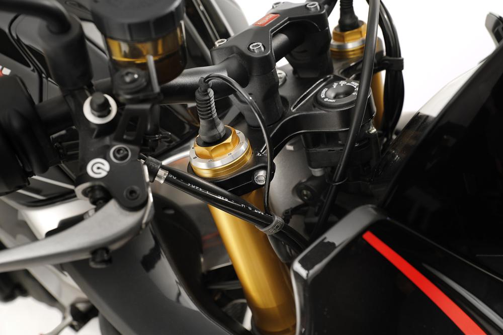 Suspensión electrónica de la Aprilia Tuono V4 1100 Factory