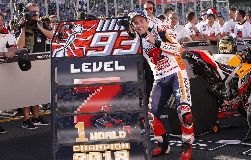 Marc Márquez suma su séptima corona de Campeón del Mundo