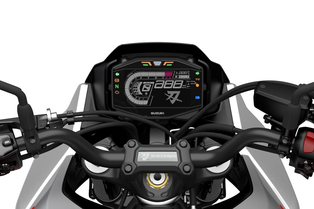 Cuadro de instrumentos de la Suzuki Katana 2020