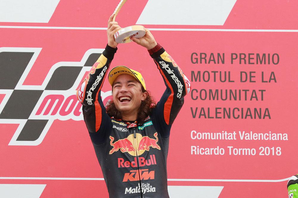 Can Oncu, el piloto más joven de la historia en ganar una carrera en Moto3