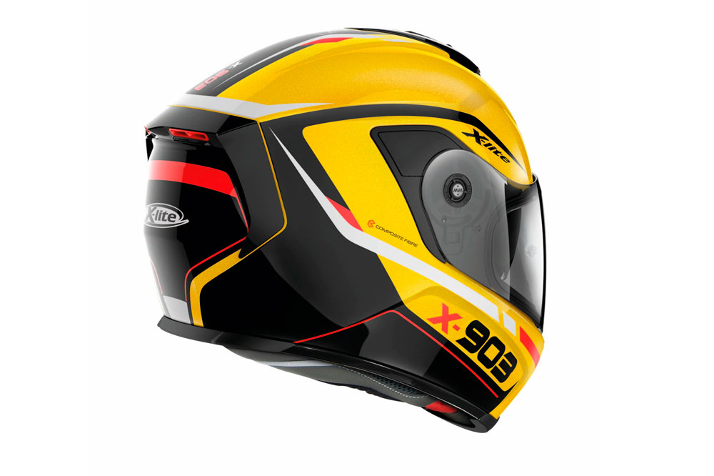 Casco integral X-903 N-Com de Lite amarillo