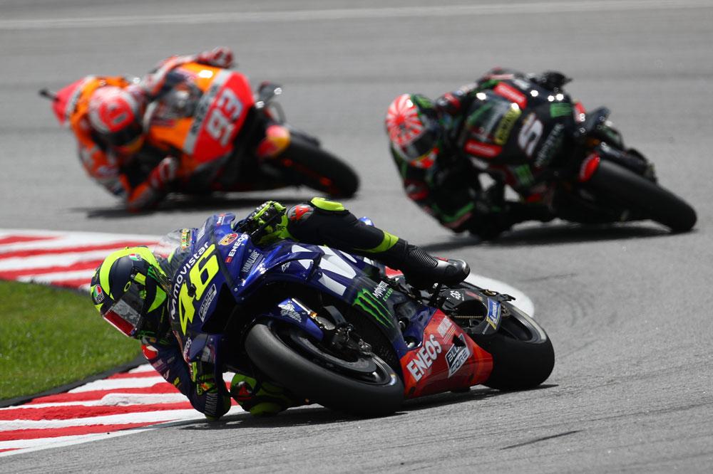 Valentino Rossi fue el gran perdedor del GP de Malasia 2018