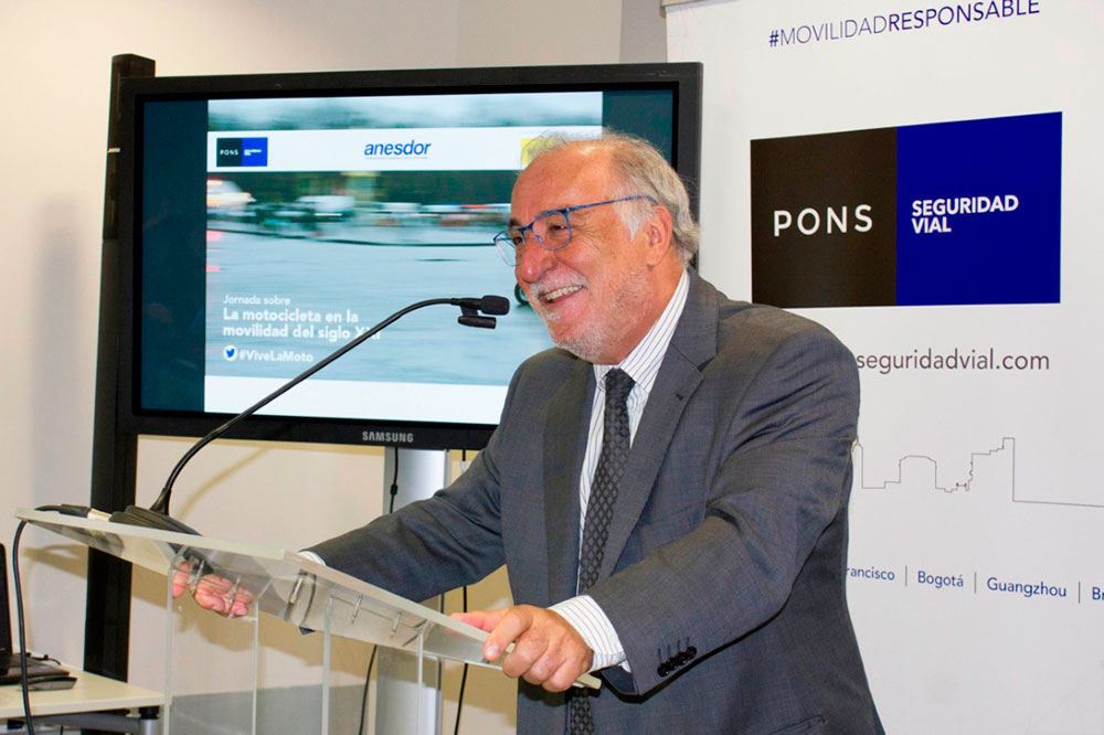 Antes de volver a la DGT, Pere Navarro estuvo colaborando con la Fundación Pons para la Seguridad Vial.
