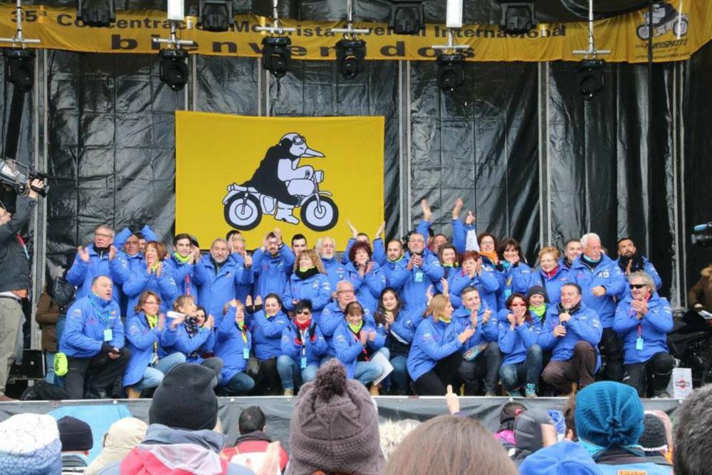 Concentración de motos Pinguinos