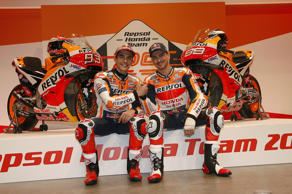 Marc Márquez y Jorge Lorenzo: Repsol Honda MotoGP
