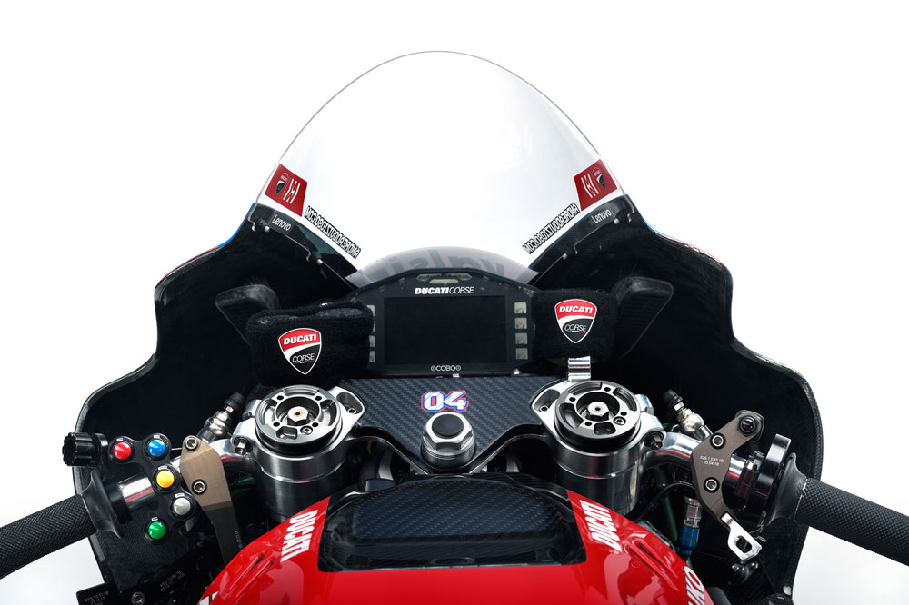 Instrumentación de la Ducati Desmosecidi GP 2019