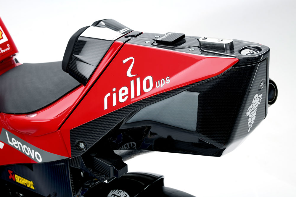 Estéticamente el colín de la Ducati Desmosecidi GP 2019 es cuestionable