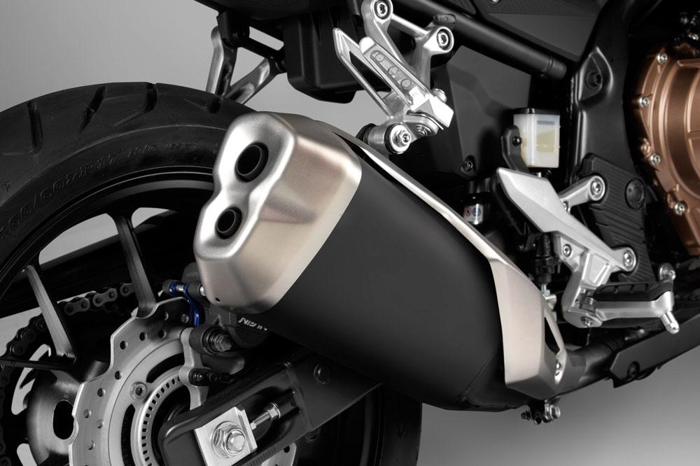 Silenciador de la Honda CB 500 F 2019