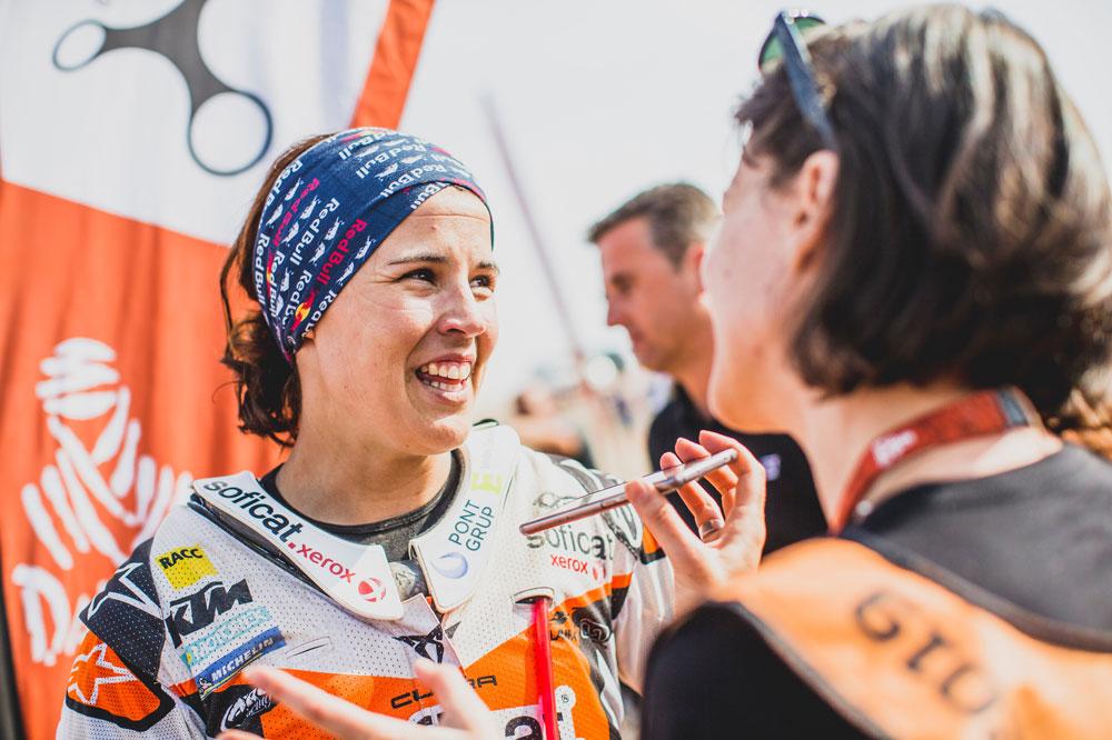 Laia Sanz ha logrado su mejor posición de todas las ediciones del Dakar en las que ha partipado