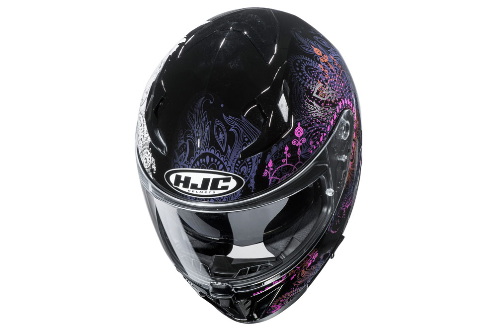 Casco integral i70 de HJC decorado rosa y negro