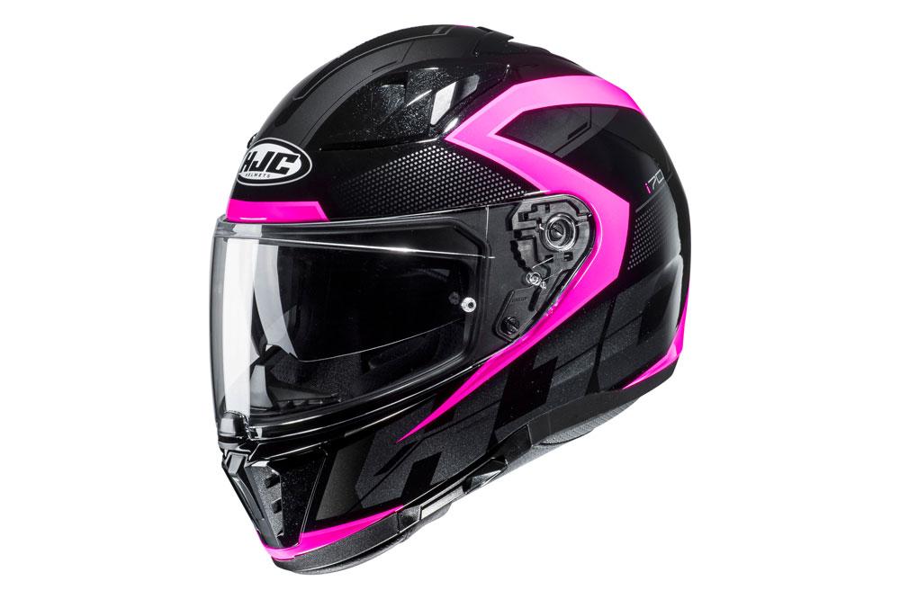 Casco integral i70 de HJC en negro rosa
