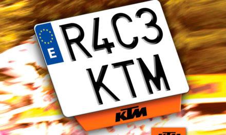 Tu nueva KTM con matrícula KTM tiene premio