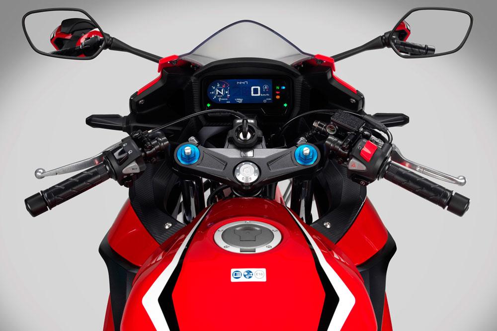 Instrumentación de la Honda CBR 500 R