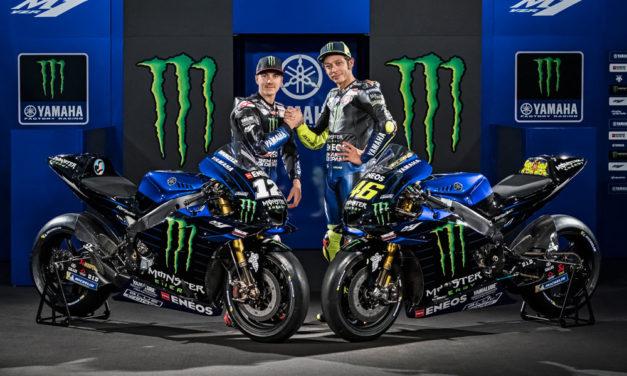 Rossi y Viñales descubren la Yamaha M1 MotoGP 2019