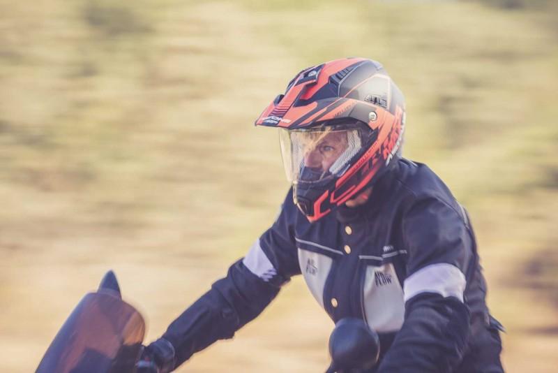 Casco Crosstourer de Astone Helmets rojo y negro