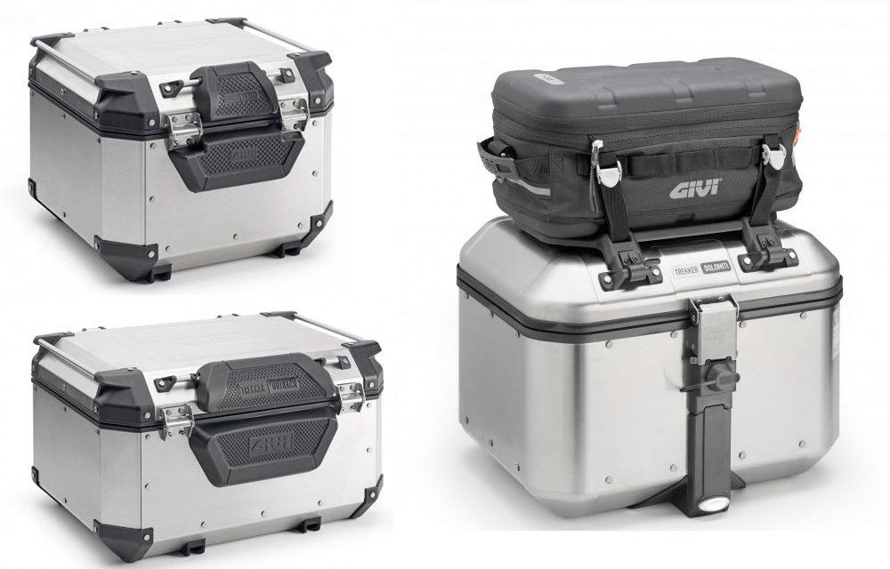 Respaldos E173 y E172 y mini portaequipajes  E165 de Givi