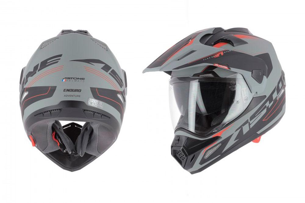 Casco Crosstourer de Astone Helmets gris y negro
