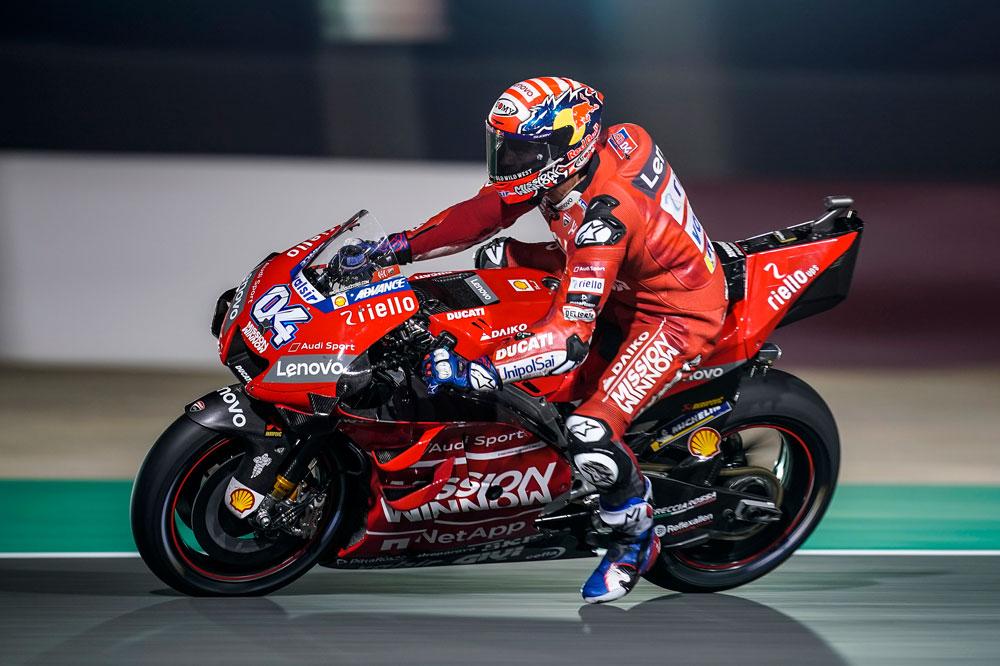 Andrea Dovizioso al final le ganó la mano a Marc Márquez en el GP de Qatar en MotoGP