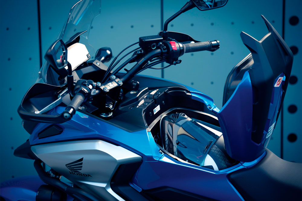 Espacio para el equipaje de la Honda NC 750X