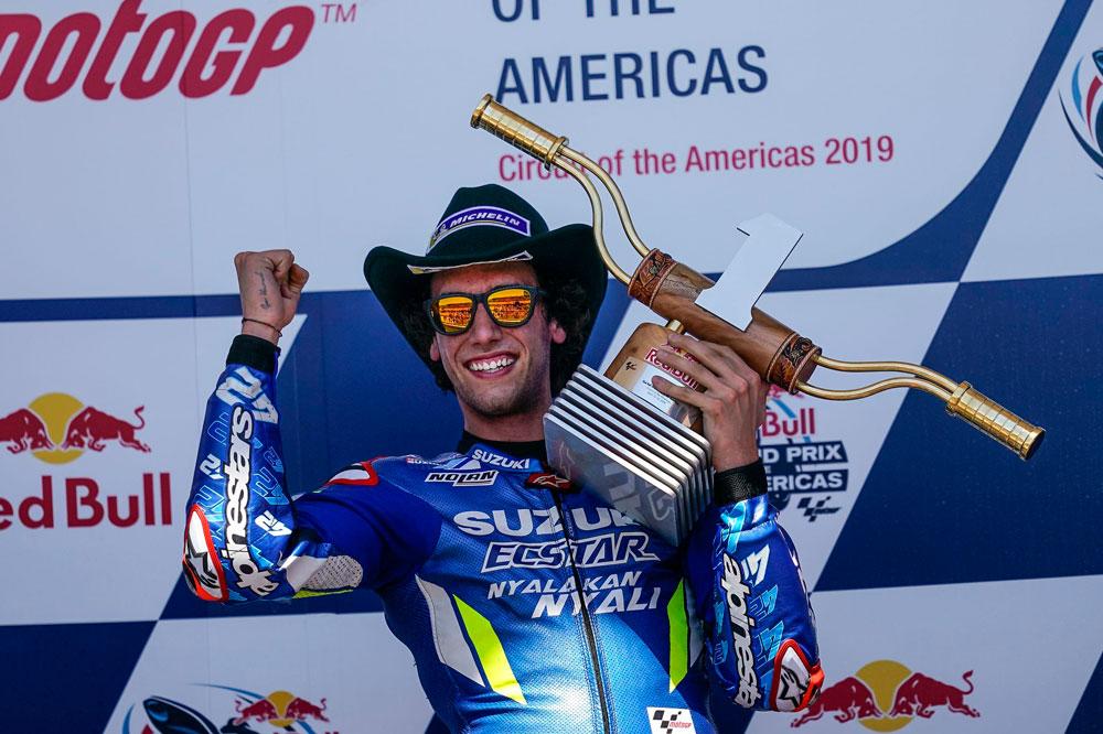 Alex Rins logró su primera victoria en MotoGP en el GP Americas, la prueba anterior al GP de Jerez