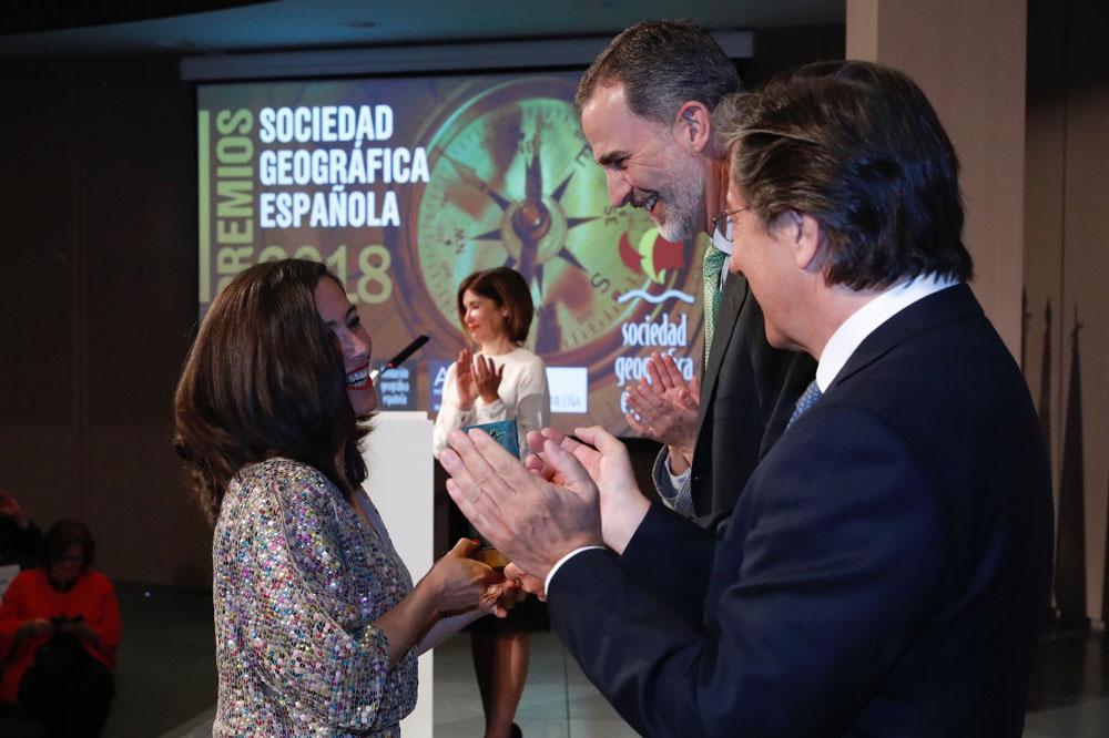 Alicia Sornosa Premio de la Sociedad Geográfica Española