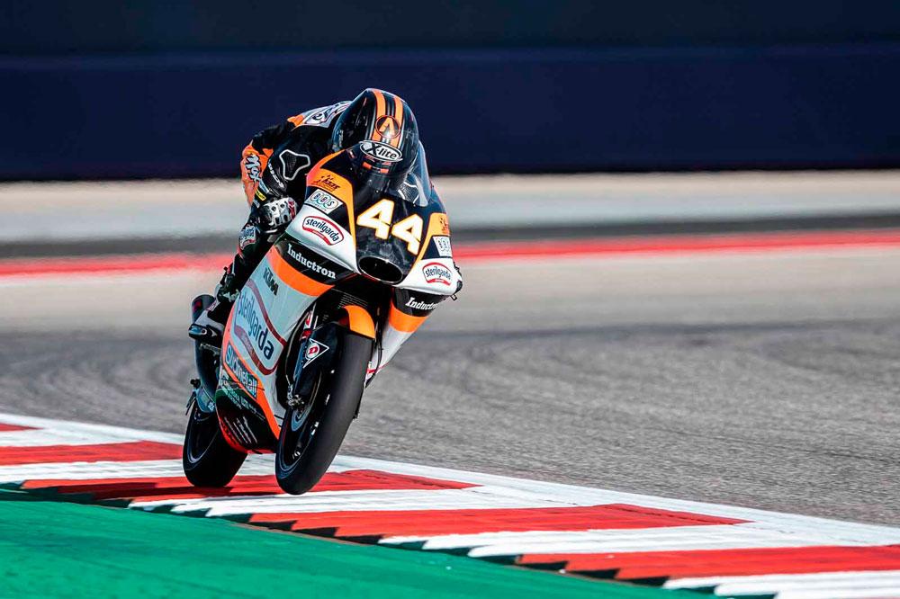 Aron Canet logró la victoria en la categoría Moto3 del GP Americas