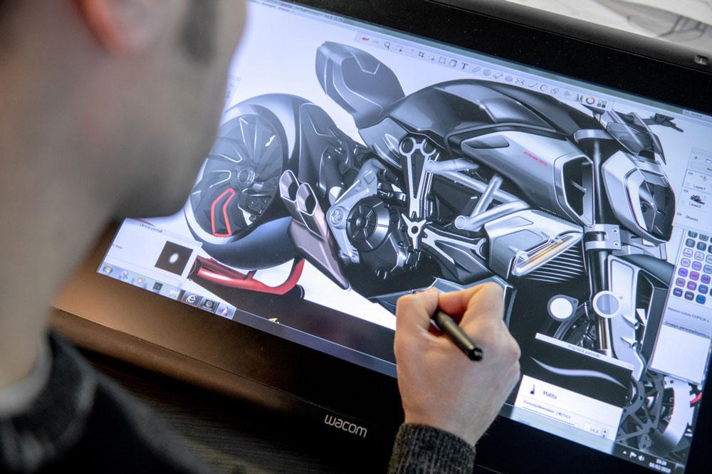 Proceso de diseño de una Ducati Diavel 1260